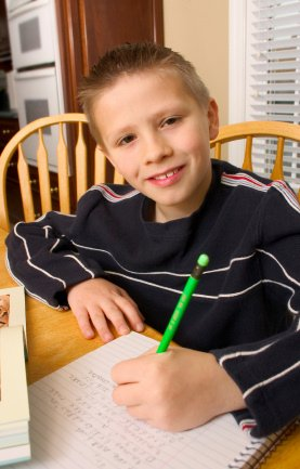 confident homeschooled child